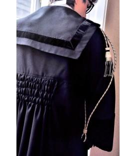 Toga Avvocato e Magistrato fresco lana completa di cordoni