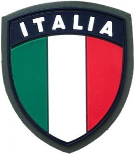 SCUDETTO ITALIA IN GOMMA CON VELCRO